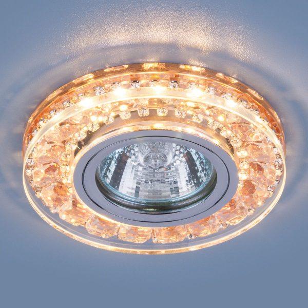Точечный светодиодный светильник 2192 MR16 GD шампань 1