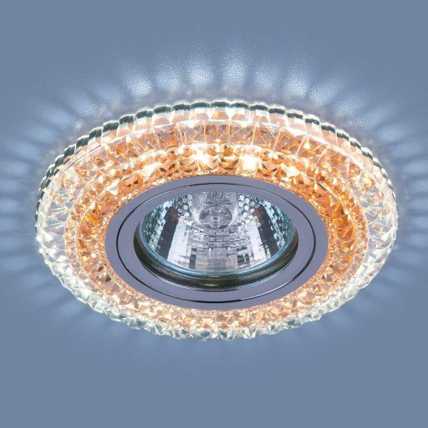 Точечный светодиодный светильник 2193 MR16 CL/OR прозрачный/оранжевый 2