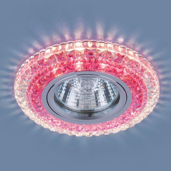 Точечный светодиодный светильник 2193 MR16 CL/PK прозрачный/розовый 2
