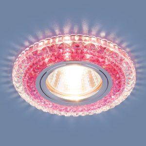 Точечный светодиодный светильник 2193 MR16 CL/PK прозрачный/розовый