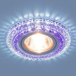 Точечный светодиодный светильник 2193 MR16 CL/PU прозрачный/фиолетовый