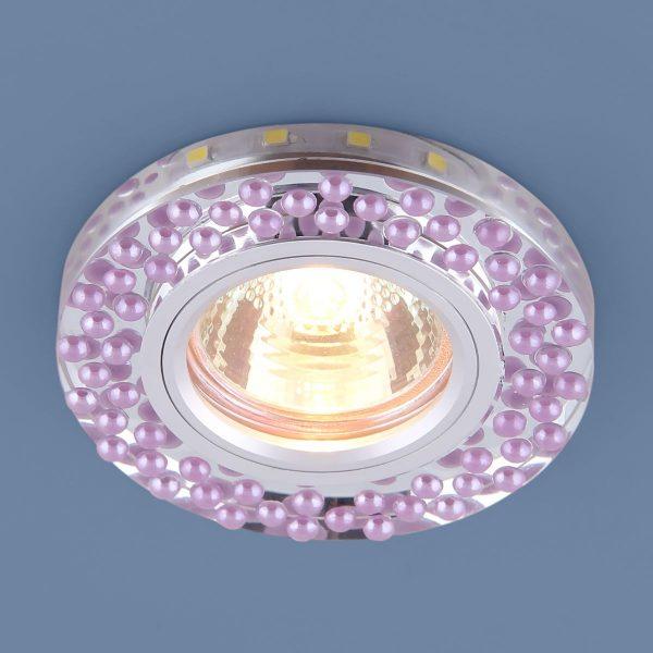 Встраиваемый точечный светильник с LED подсветкой 2194 MR16 SL/VL зеркальный/фиолетовый 1
