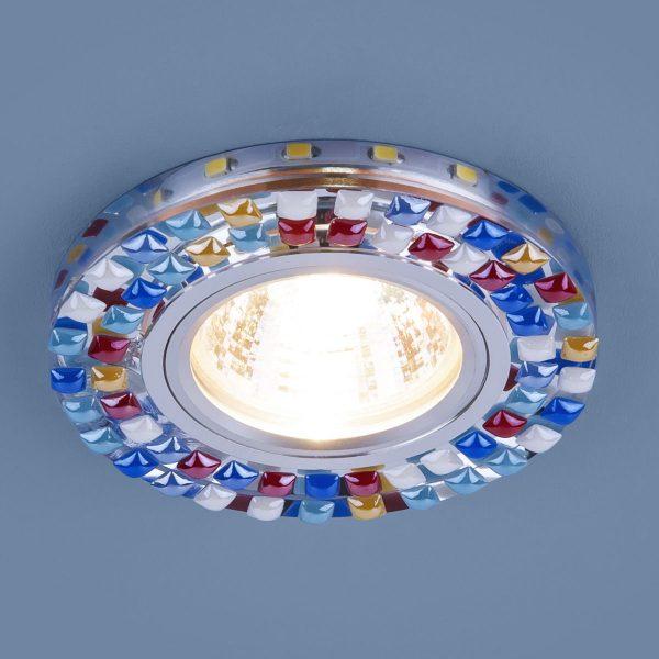 Точечный светодиодный светильник 2195 MR16 SL/MLT зеркальный/мульти 1