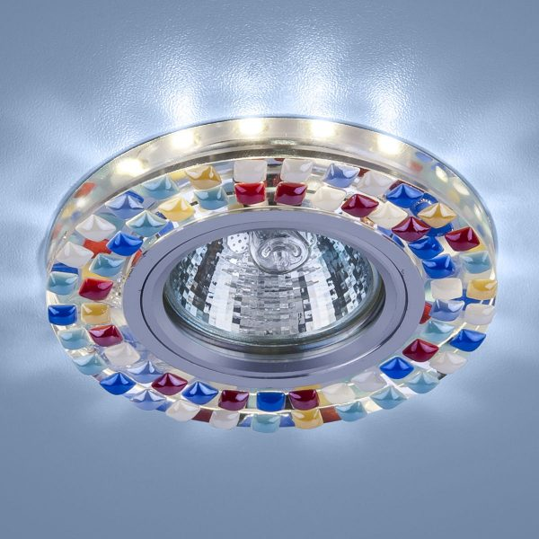 Точечный светодиодный светильник 2195 MR16 SL/MLT зеркальный/мульти 2