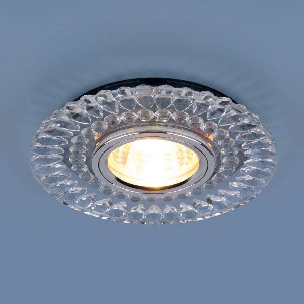 Точечный светодиодный светильник 2197 MR16 CL/SL прозрачный/серебро 2