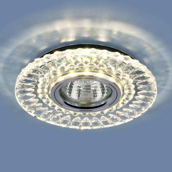 Точечный светодиодный светильник 2197 MR16 CL/SL прозрачный/серебро 1