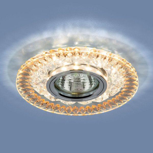 Точечный светодиодный светильник 2198 MR16 CL/GD прозрачный/золото 2