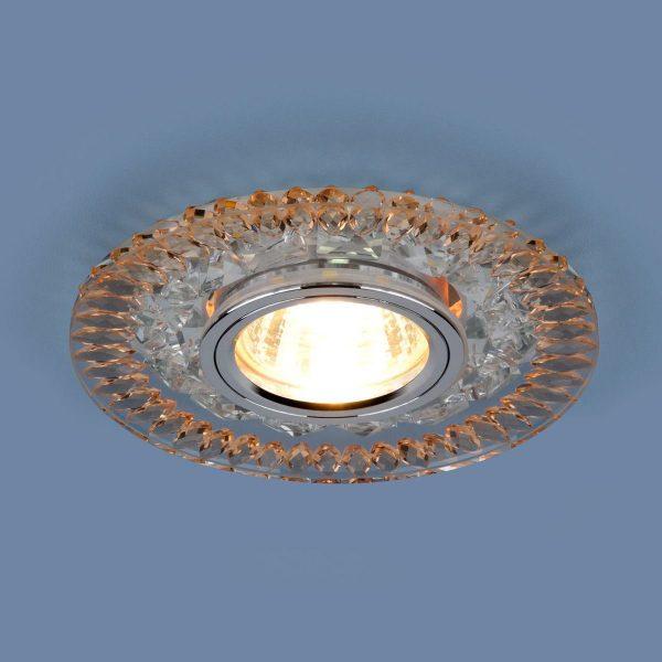 Точечный светодиодный светильник 2198 MR16 CL/GD прозрачный/золото 1