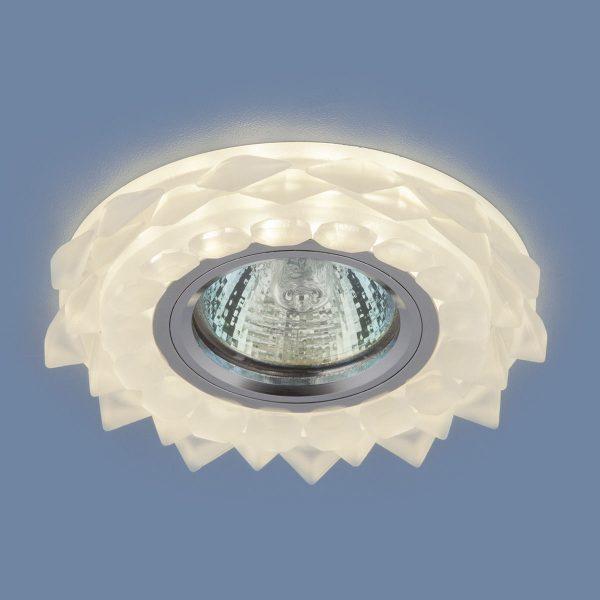 Встраиваемый потолочный светильник с LED подсветкой 2209 MR16 Matt Ice матовый лед 2