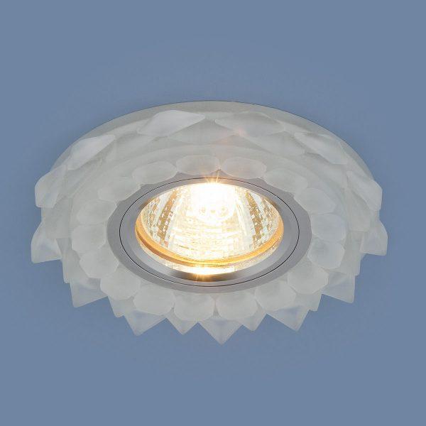 Встраиваемый потолочный светильник с LED подсветкой 2209 MR16 Matt Ice матовый лед 1