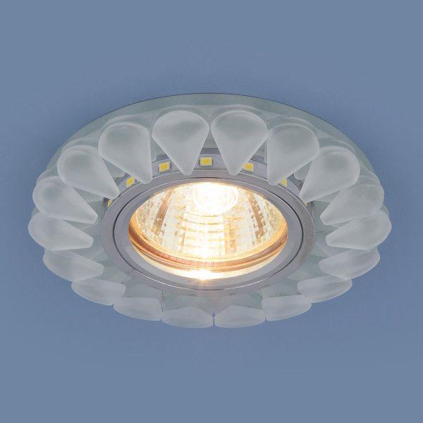 Встраиваемый потолочный светильник с LED подсветкой 2210 MR16 Matt Ice матовый лед 1