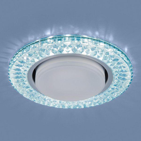 Точечный светодиодный светильник 3021 GX53 BL лазурный 1