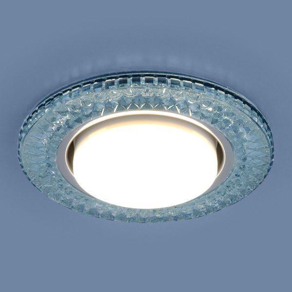 Точечный светодиодный светильник 3021 GX53 BL лазурный 2