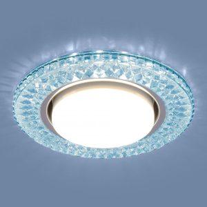 Точечный светодиодный светильник 3021 GX53 BL лазурный