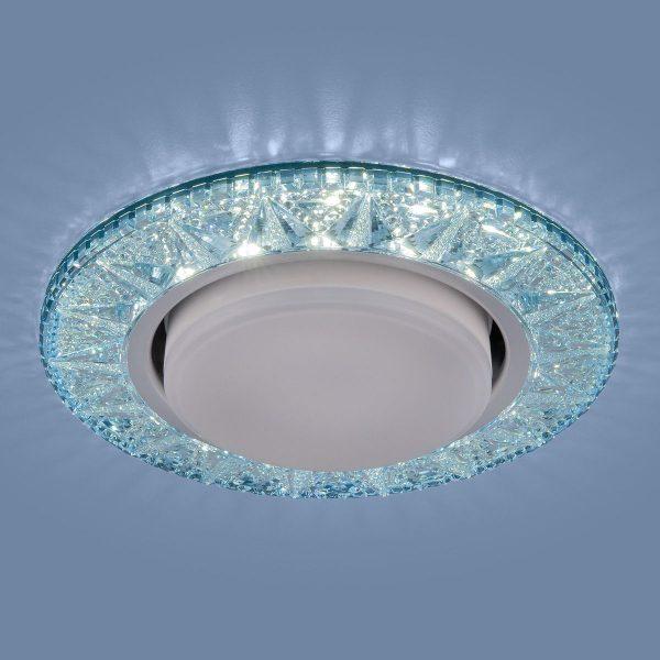 Точечный светодиодный светильник 3022 GX53 BL лазурный 1