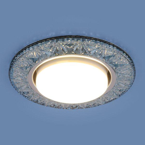 Точечный светодиодный светильник 3022 GX53 BL лазурный 2