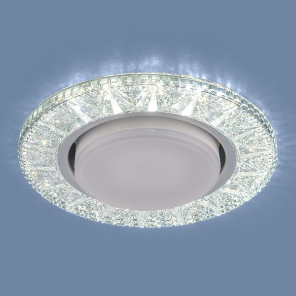 Точечный светодиодный светильник 3022 GX53 CL прозрачный 2