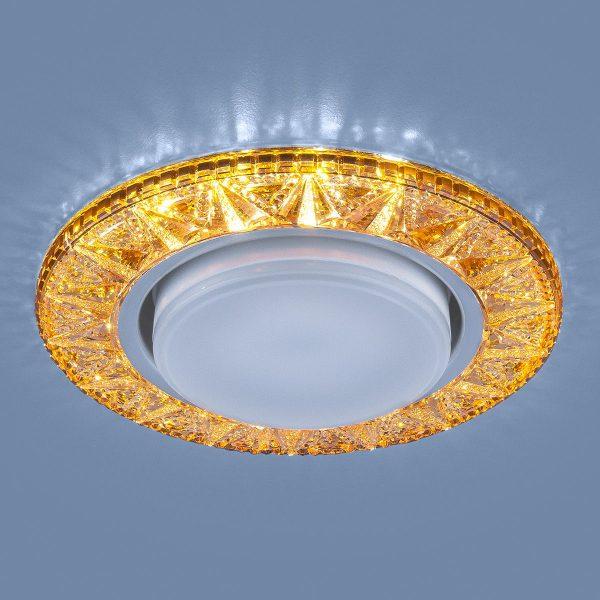 Точечный светодиодный светильник 3022 GX53 GD золото 2
