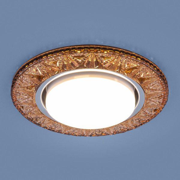Точечный светодиодный светильник 3022 GX53 GD золото 1