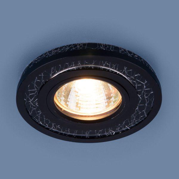 Точечный светодиодный светильник 7020 MR16 BK/SL черный/серебро 1