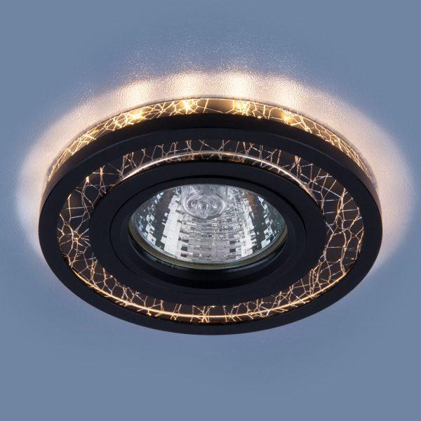 Точечный светодиодный светильник 7020 MR16 BK/SL черный/серебро 2