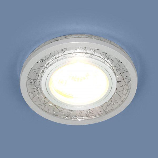 Точечный светодиодный светильник 7020 MR16 WH/SL белый/серебро 1