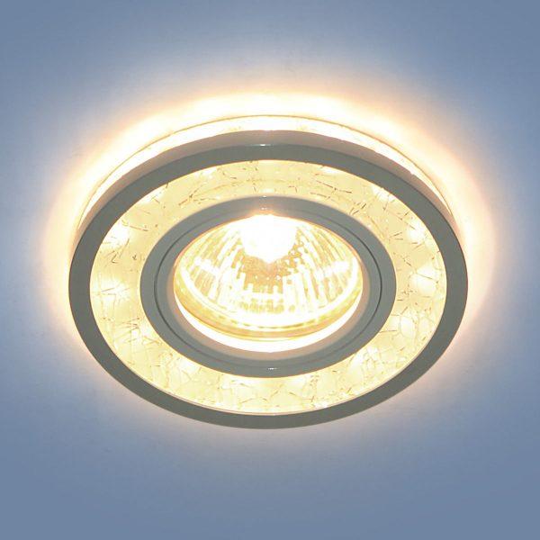 Точечный светодиодный светильник 7020 MR16 WH/SL белый/серебро