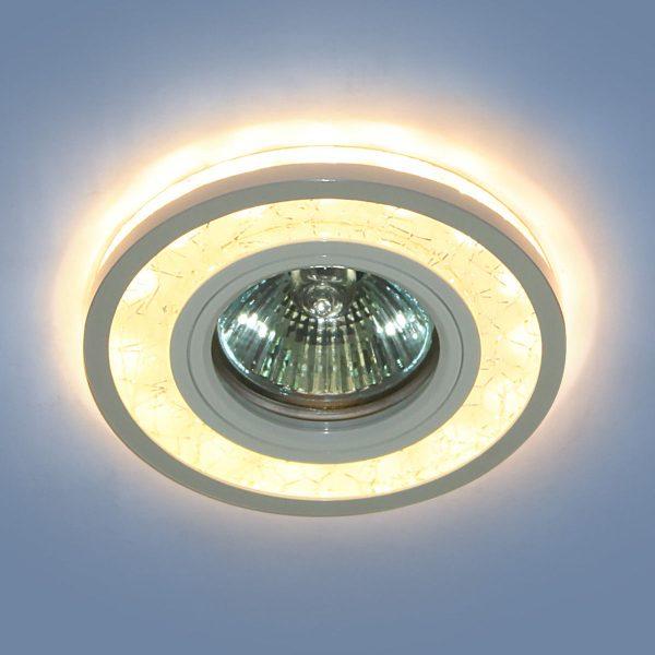 Точечный светодиодный светильник 7020 MR16 WH/SL белый/серебро 2