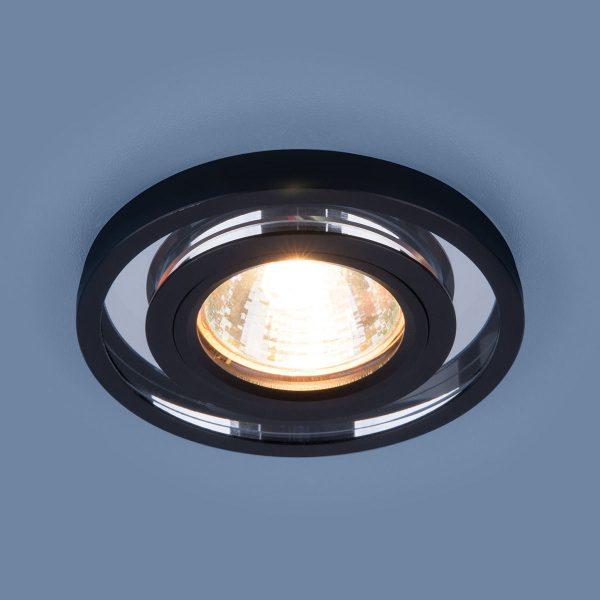 Точечный светодиодный светильник 7021 MR16 SL/BK зеркальный/черный 2