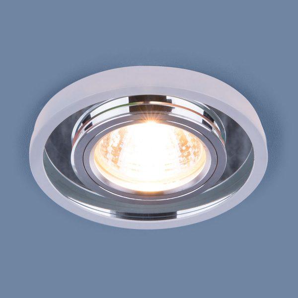 Точечный светодиодный светильник 7021 MR16 SL/WH зеркальный/белый 2