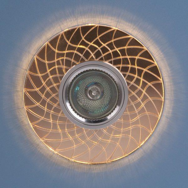 Точечный светодиодный светильник 8091 MR16 SL/GD зеркальный/золотой 3