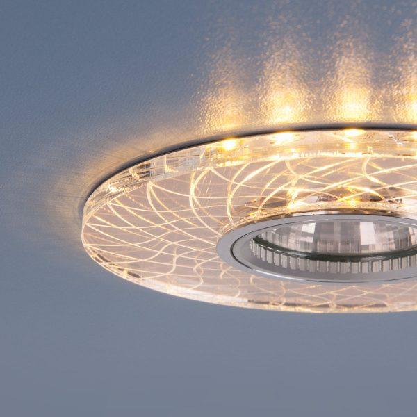 Точечный светодиодный светильник 8091 MR16 SL/GD зеркальный/золотой 4