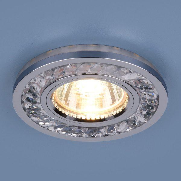 Точечный светодиодный светильник 8355 MR16 CL/CH прозрачный/хром 2