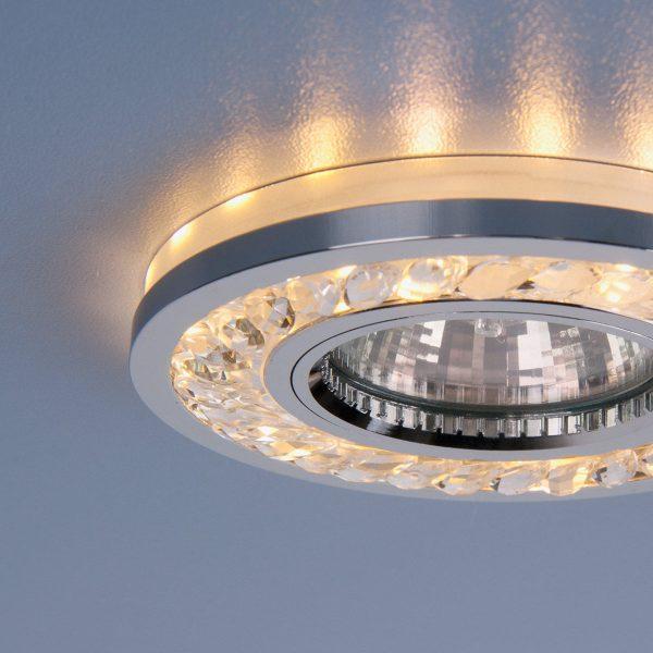 Точечный светодиодный светильник 8355 MR16 CL/CH прозрачный/хром 4