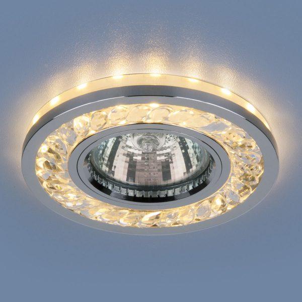 Точечный светодиодный светильник 8355 MR16 CL/CH прозрачный/хром 1