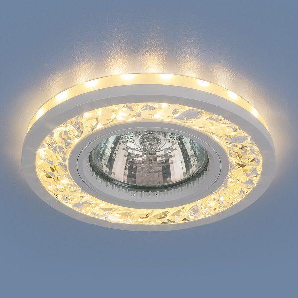 Точечный светодиодный светильник 8355 MR16 CL/WH прозрачный/белый 1