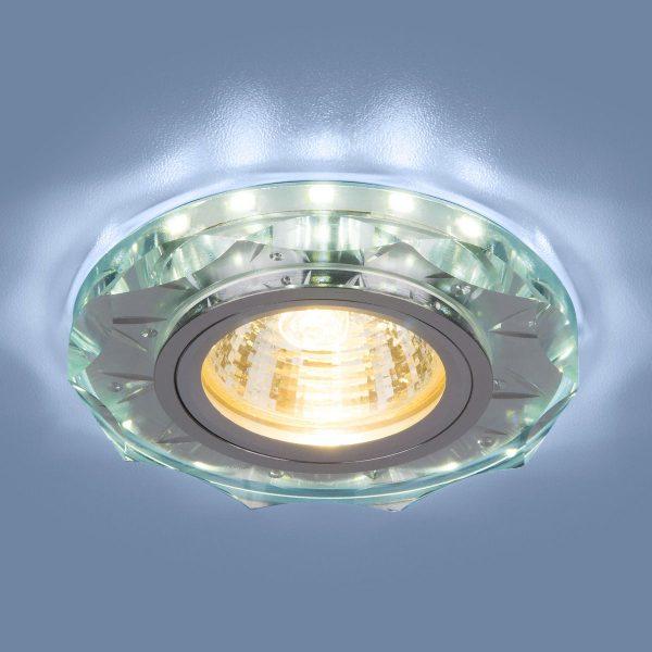 Точечный светодиодный светильник 8356 MR16 CL/WH прозрачный/белый