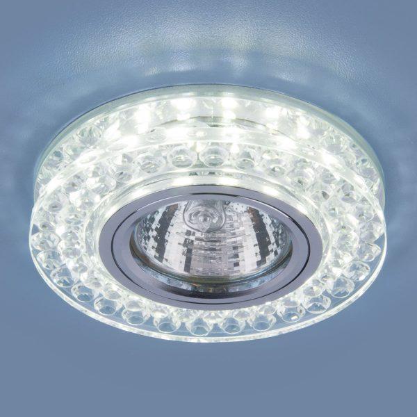 Точечный светодиодный светильник 8381 MR16 CL/SL прозрачный/серебро 1