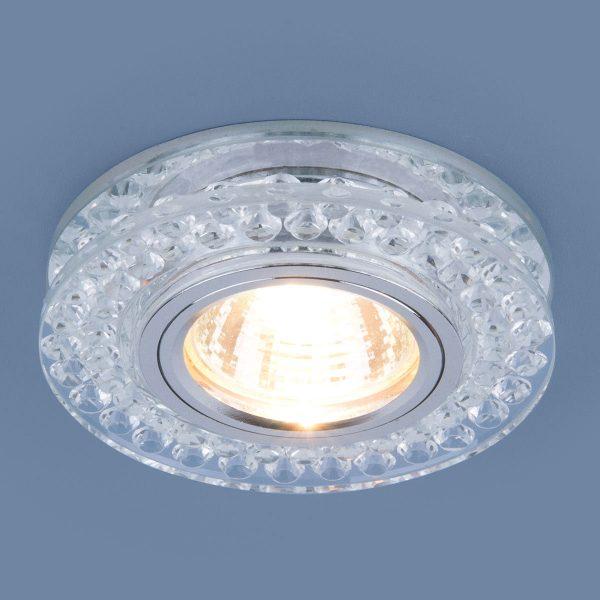 Точечный светодиодный светильник 8381 MR16 CL/SL прозрачный/серебро 2