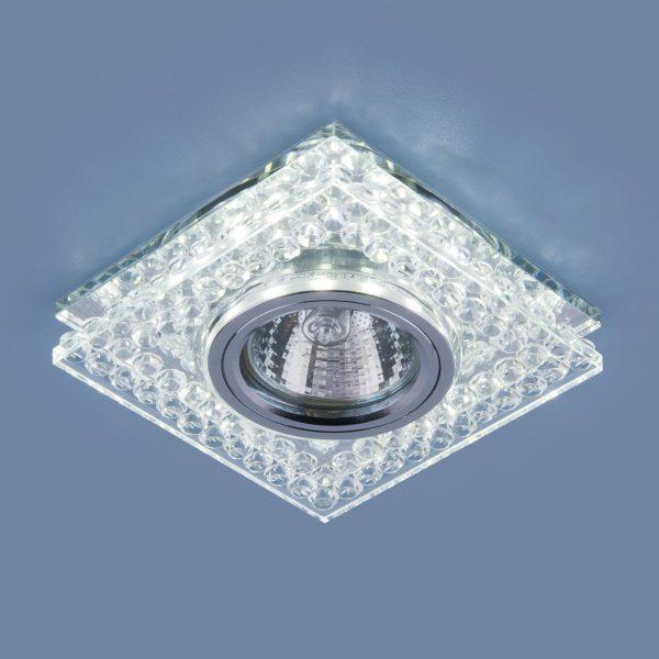 Точечный светодиодный светильник 8391 MR16 CL/SL прозрачный/серебро 2