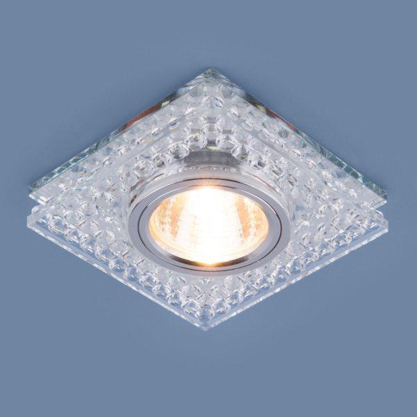 Точечный светодиодный светильник 8391 MR16 CL/SL прозрачный/серебро 1