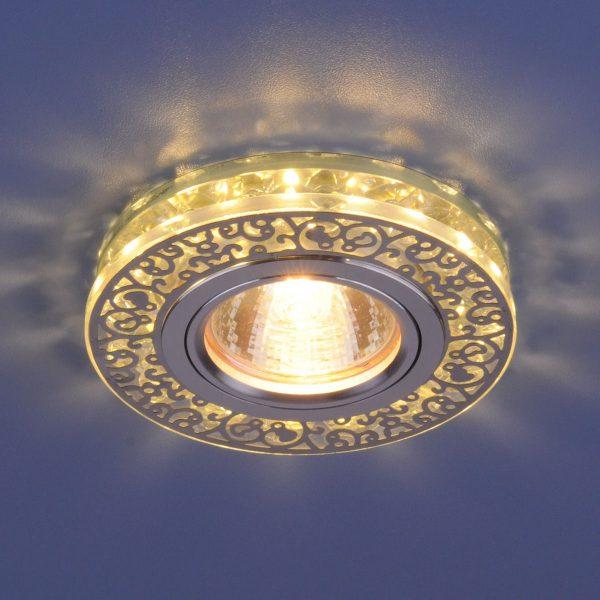 Точечный светодиодный светильник с хрусталем 6034 MR16 CH/CL хром/прозрачный 2