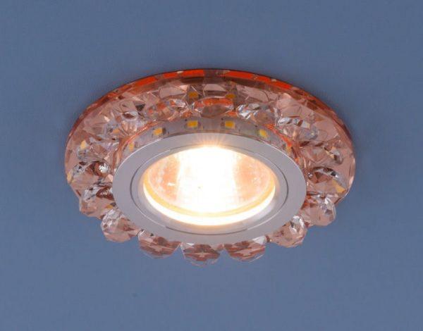 Точечный светодиодный светильник с хрусталем 6036 MR16 GD золото 2