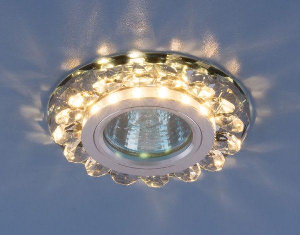 Точечный светодиодный светильник с хрусталем 6036 MR16 Gr дымчатый 1