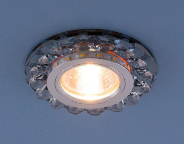 Точечный светодиодный светильник с хрусталем 6036 MR16 Gr дымчатый 2