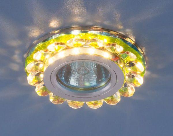 Точечный светодиодный светильник с хрусталем 6036 MR16 MLT мульти 1