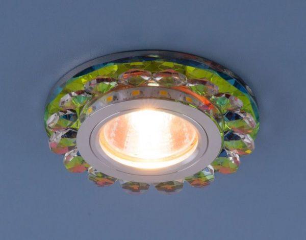 Точечный светодиодный светильник с хрусталем 6036 MR16 MLT мульти 2