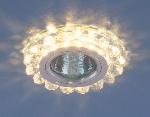 Точечный светодиодный светильник с хрусталем 6036 MR16 СL прозрачный 1