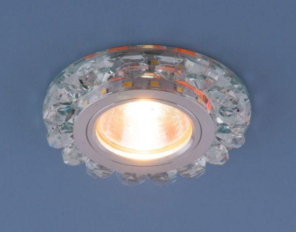 Точечный светодиодный светильник с хрусталем 6036 MR16 СL прозрачный 2