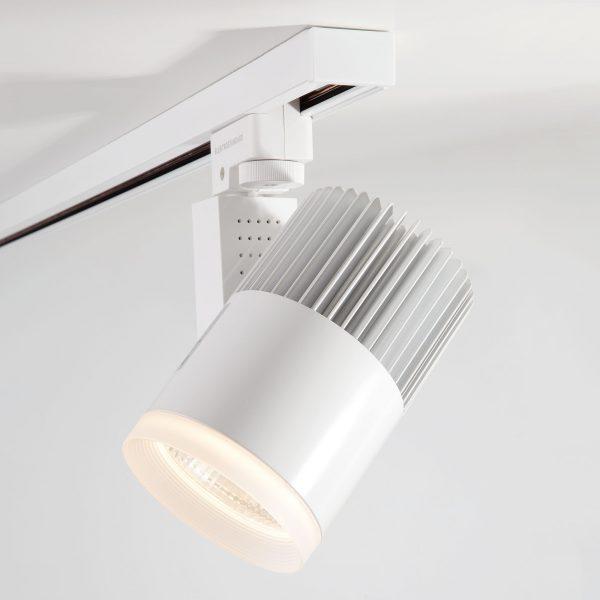 Трековый светодиодный светильник для однофазного шинопровода Accord Белый 20W 3